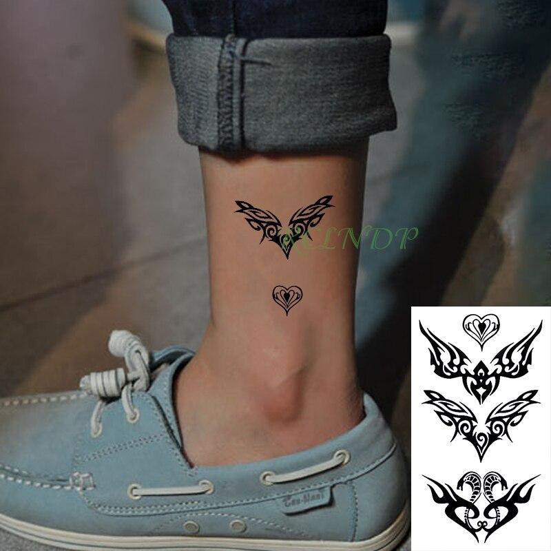 Waterproof Temporary Tattoo Stickers ancient Egypt snake Tribal totem Fake Tatto Flash Tatoo Body Art neck for Girl Women Men