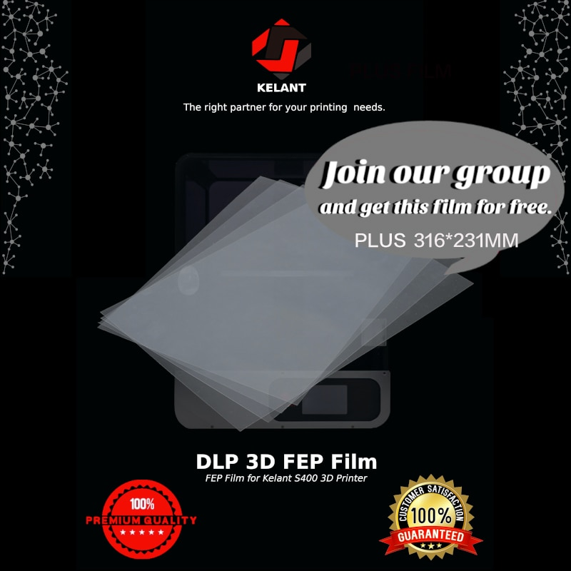 5/ 1/ 10 Pieces FEP Sheet Film 3D Printer 0.15-0.2mm films 316x231mm for S400s / s500 3d Printers Impresora parts accessories