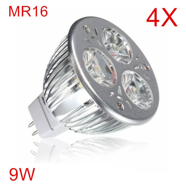4 piezas de alta potencia MR16 luz Led 9 W lámpara Led lampadada bombilla Led DC12V foco Led de alta potencia luz