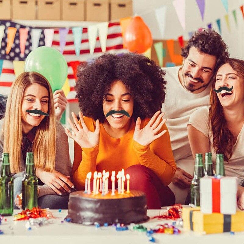 12 piezas payaso mascarada fiesta falsa barba decorativa bigote manillar batidor canalla barba gruesa divertida ceja