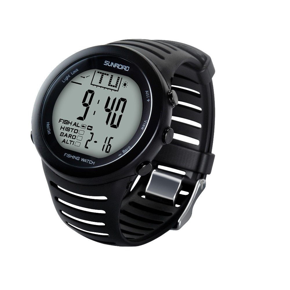 SUNROAD 2021 New Arrival Men's Digital Fishing Sports Watch with Barometer Altimeter Stopwatch Hiking Swmming Wristwatches enlarge