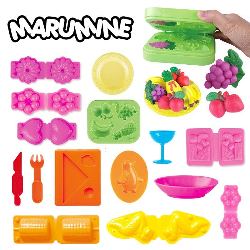 Marumine 3D molde de arcilla de Color plastilina herramientas de modelado tallarines fabricante comida Dumplings Playdough juguete educativo para niños