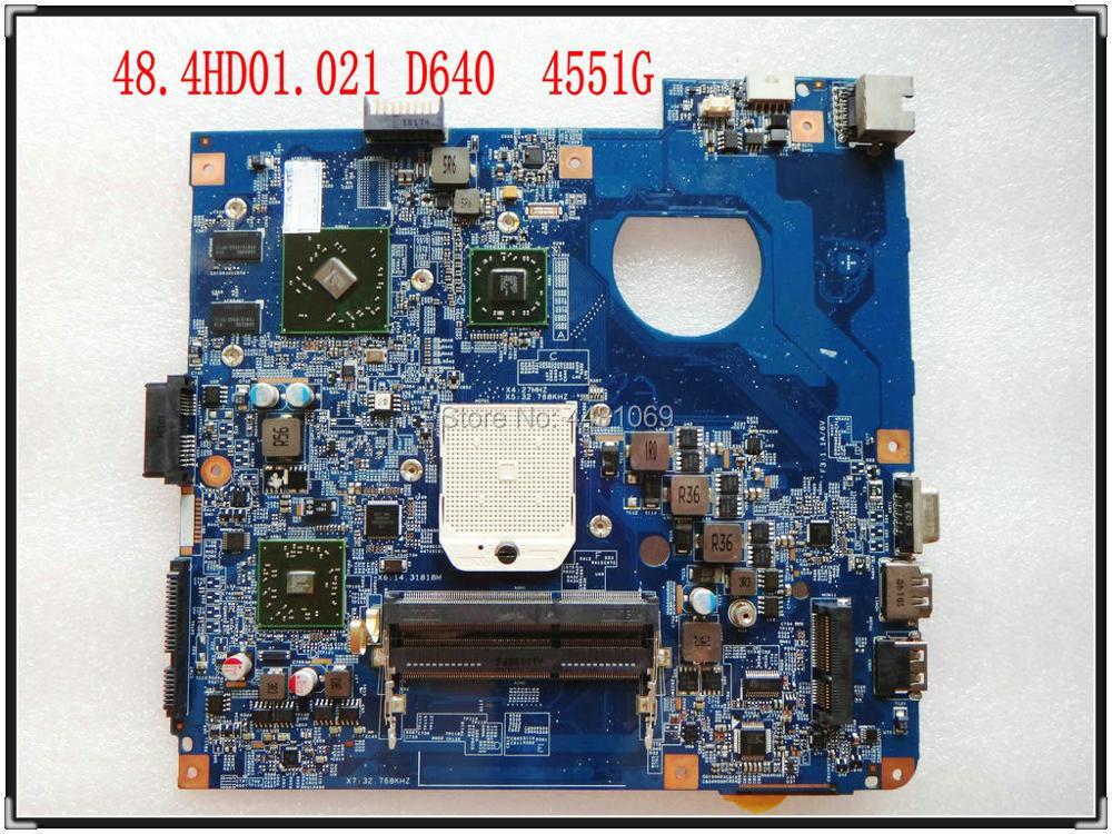 HD5470 48.4HD01.021 para ACER 4551 4551G laptop motherboard 512M 09919-2 JE40-DN testado bom frete grátis