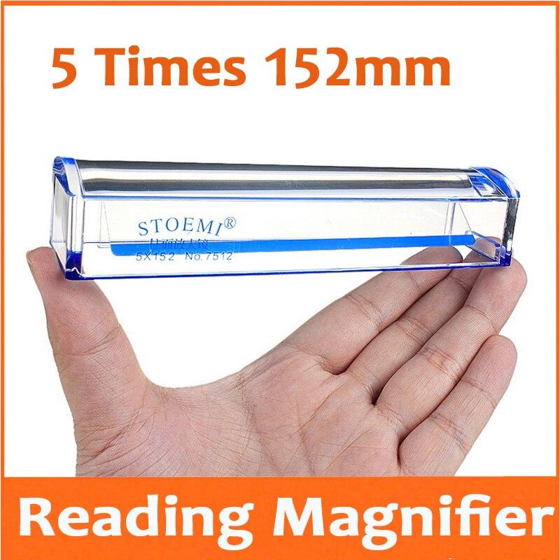 Lupa cilíndrica de mano de 5X 152mm para personas mayores lectura lupa de regalo para contadores con regla
