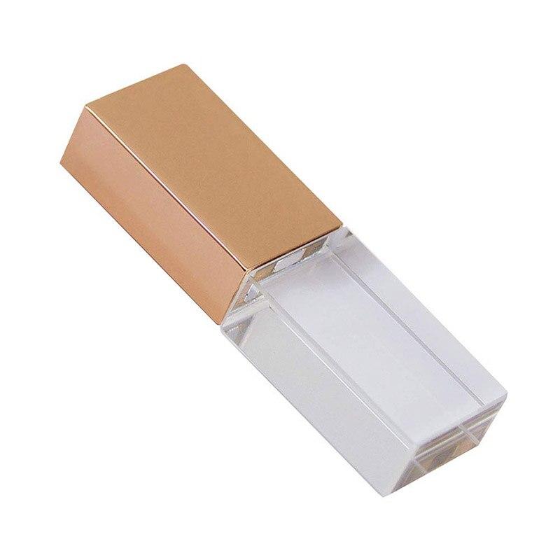Luxury Crystal Shape 64GB 16GB 32GB USB 2.0 Flash Drive LED Pen Drive Memory Stick Thumb Drive Waterproof Jump Drive U Disk Gift