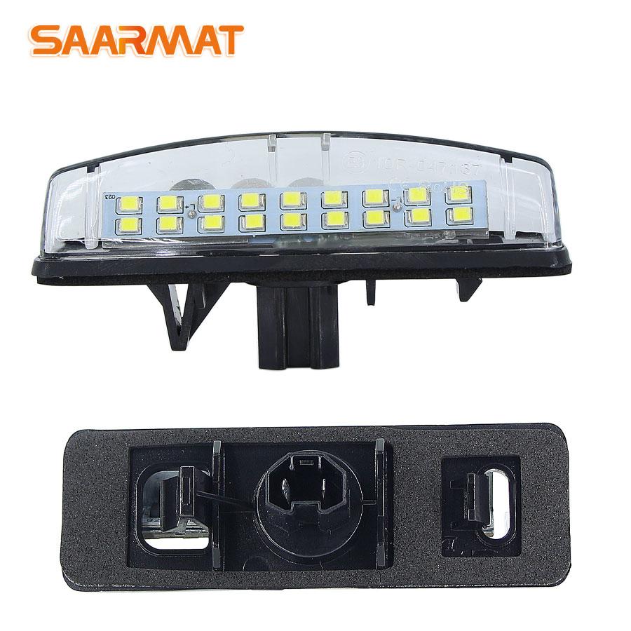 2 uds CanBus LED de las luces de la matrícula para Toyota Camry/Aurion Avensis Verso eco Prius LEXUS Is200/Is300 1999 ~ 2005 lámpara con forma de número