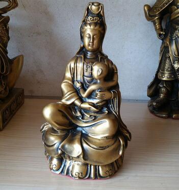 Feng Shui bronze kupfer ornamente Guanyin statue von Avalokiteshvara Buddhistischen schrein von Einrichtungs Seiko ZZ