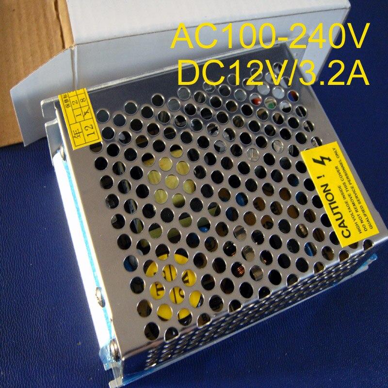 High quality 40W 3.2A 12Vdc power supply AC100-240V input power suply 12V Output free shipping 5pcs/lot