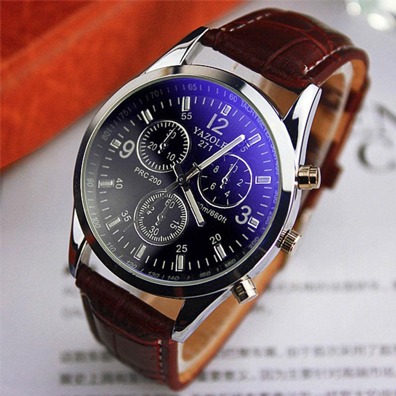 Yazole Brand Quartz Watch Men New Fashion Back Light Waterproof Casual Business Quartz-watch Relogio Masculino