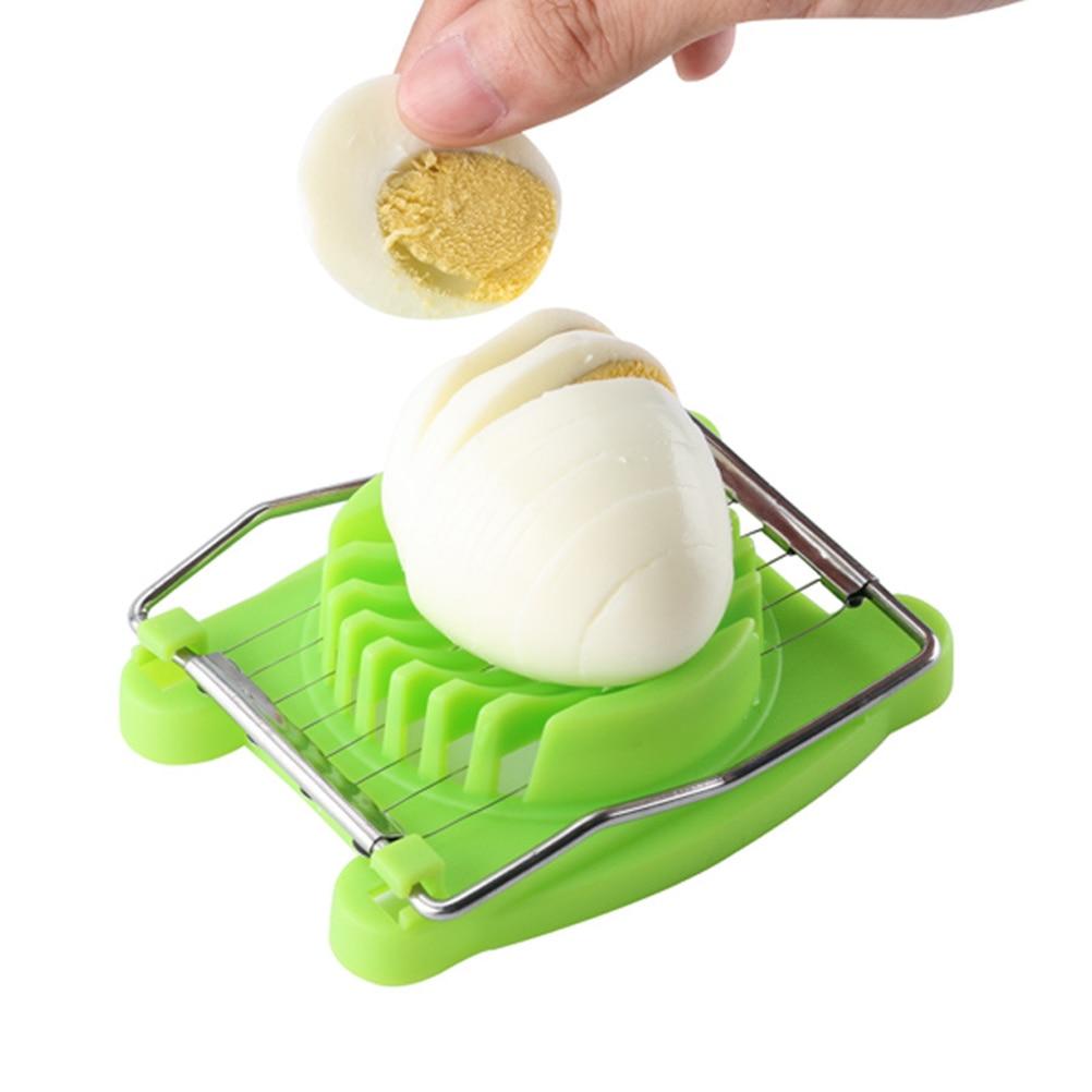 Rebanador de huevos de lujo de acero inoxidable creativo multifuncional separador de huevos cortador de huevos divisores para cocina restaurante hogar