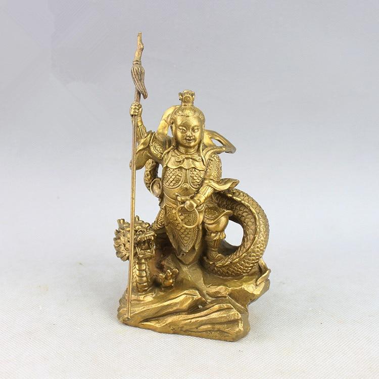 Caballo de bronce puro dragón tres Príncipe Na Zha.