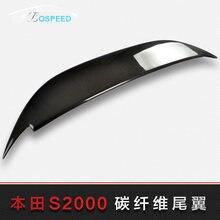 Adapté pour HONDA 2001-2006 S2000 aile arrière en fiber de carbone modifiée   Aile de spoiler arrière