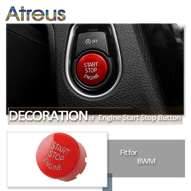 Parada de arranque de motor de coche botón reemplazar para cubierta BMW 1 2 3 4 5 6 7 de la serie F30 F10 G30 F20 F21 F22 F23 F31 F32 F33 F11 F12 F01 F02