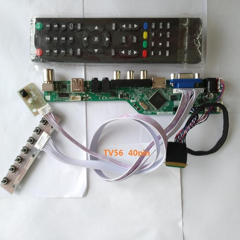 "Комплект для N173FGE-L23 1600X900 плата контроллера ЖК-дисплей LED TV AV 17,3 ""VGA пульт дистанционного управления 40pin LVDS панель экран USB HDMI"