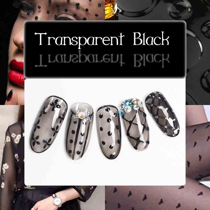 Черный прозрачный УФ гель лак для ногтей, долговечный замачиваемый светодиодный гель, Желейный пудинг, черные инструменты для дизайна ногтей, 10 мл