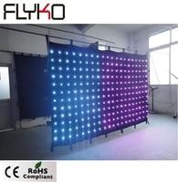 2m3m fireproof led curtain light display p150mm dot led backdrop wedding decoration