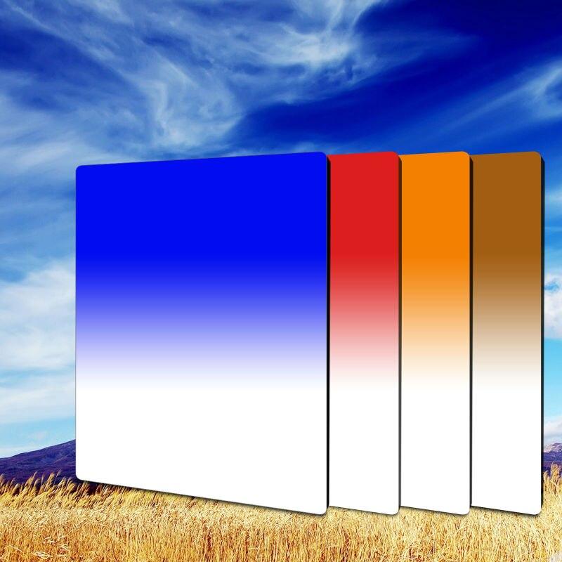 Zomei 100*150mm té Gradual + azul + naranja + rojo Kit de filtro cuadrado para Cokin z-pro Cokin Z Lee serie de soporte