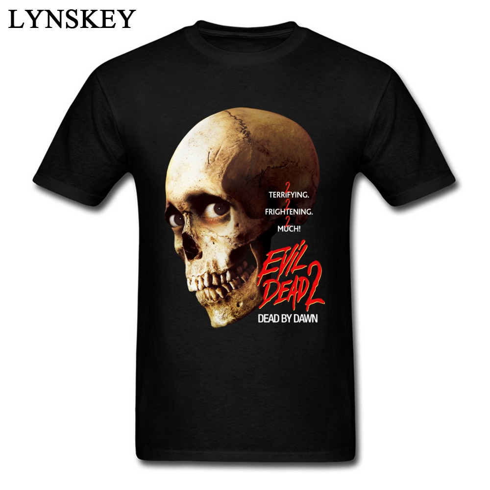 Nueva camiseta de hombre con estampado 3D de calavera Evil Dead, camiseta Hipster con diseño divertido de calle, camiseta negra para hombre