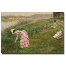 Peintures sur toile de renommée mondiale par John Lavery réplique beauté au bois dormant peinture à lhuile impression sur toile photos décoratives pour la maison