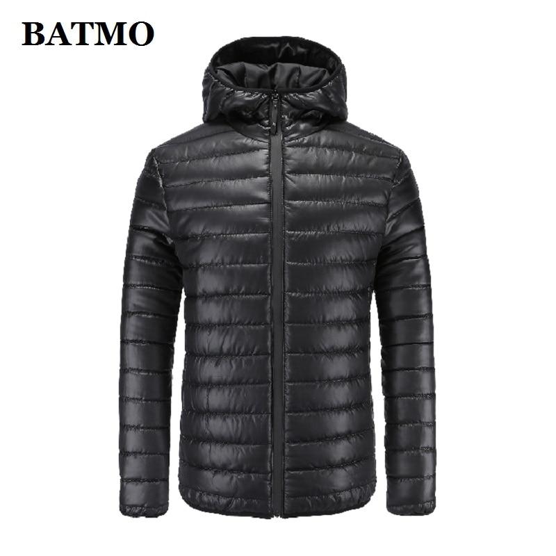 BATMO 2019 new arrival autumn&winter high quality hooded parkas men,men's winter jackets ,plus-size