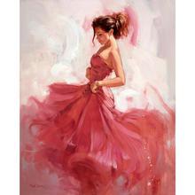 Handmade oil paintings dancer figurative Carprice canvas art for wall decor