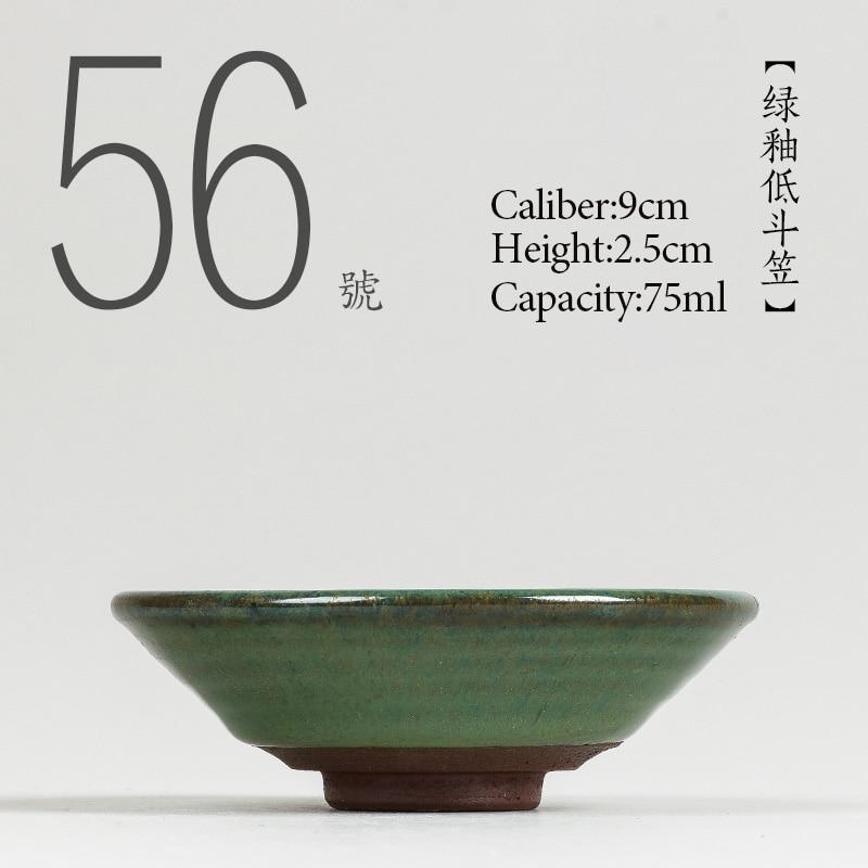 NO.056 taza de té de cerámica de alta calidad China 75ml juego de té Kung fu porcelana estilo japonés hecho a mano pintado taza de té pequeño tazón de té