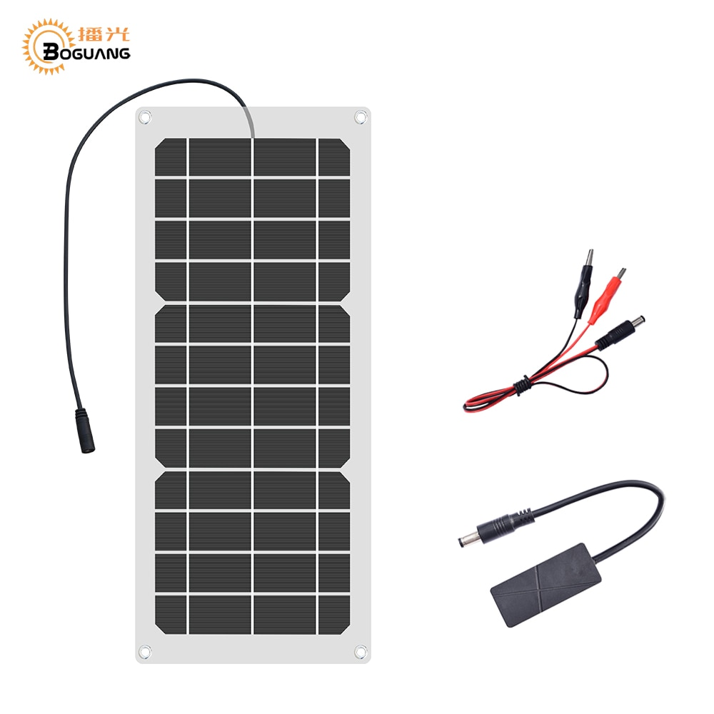Boguang 6V 12V 12V 10W panel solar Flexible células cargador 5V 1.5A...