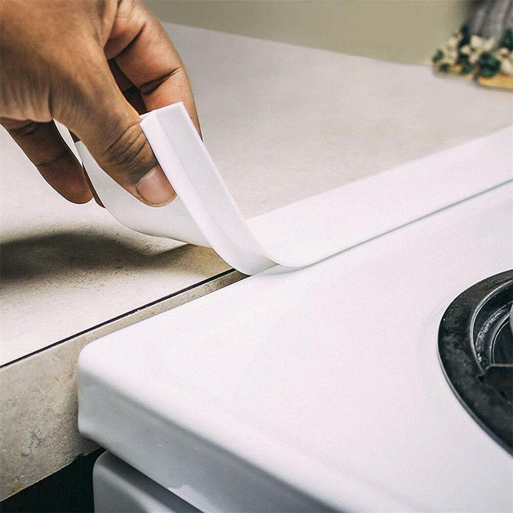 2 uds cocina de silicona encimera cubierta de espacio fácil de limpiar resistente al calor relleno sellos derrames entre herramientas de contador