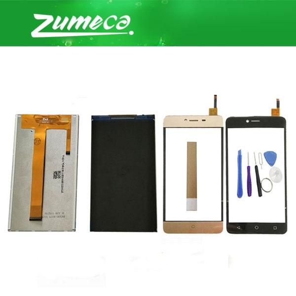 Alta calidad para BQ BQS-5058 BQS 5058 BQ 5058 BQ-5058 pantalla LCD + Panel de pantalla táctil negro blanco oro Color + cinta y herramienta
