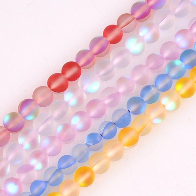 6mm alrededor de 24 Uds piedras luminosas brillan en la oscuridad cuentas de piedra artificial para la YKL0669-6 de joyería de moda