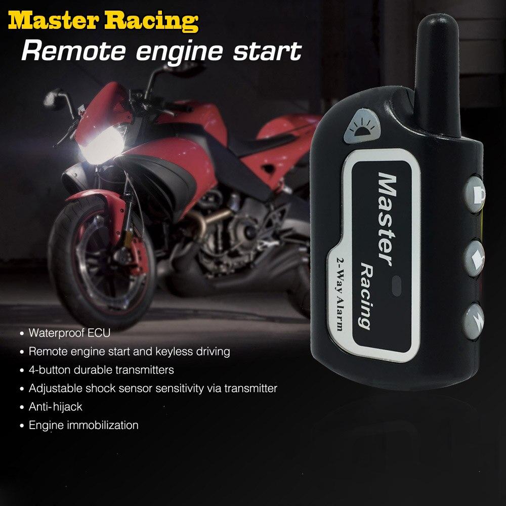 Alarme em dois sentidos da motocicleta scooter anti-roubo alarme remoto do motor iniciar 2 vias de segurança alarme moto proteção contra roubo para moto