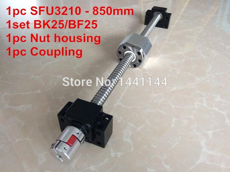 SFU3210-براغي كروية صامولة 850 مللي متر ، BK25/ BF25 ، غلاف صمولة 3210 ، اقتران 20*14 مللي متر