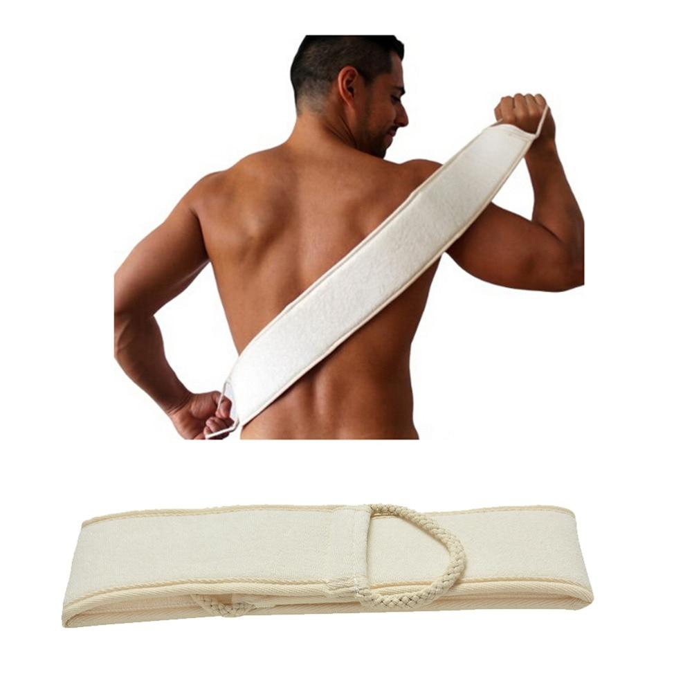 1PC Man Soft Skin Care Exfoliating Loofah Sponge Back Strap Bath Shower Body Massage Spa Cleaning Sc