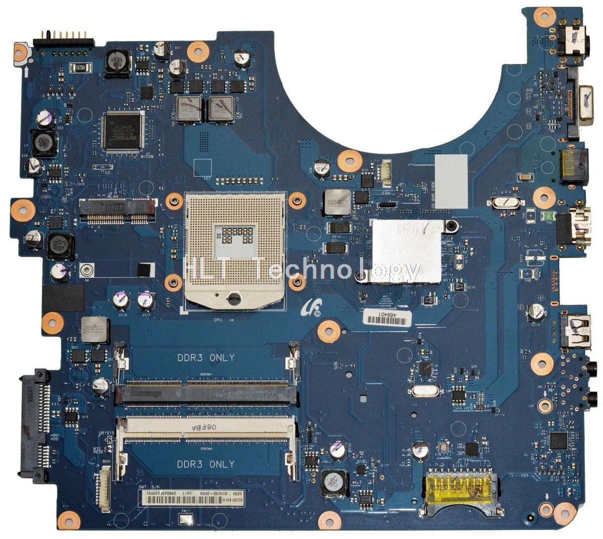 Placa base HOLYTIME para ordenador portátil Samsung R540 R580 BA92-06761A HM55 DDR3 tarjeta gráfica integrada 100% totalmente probada