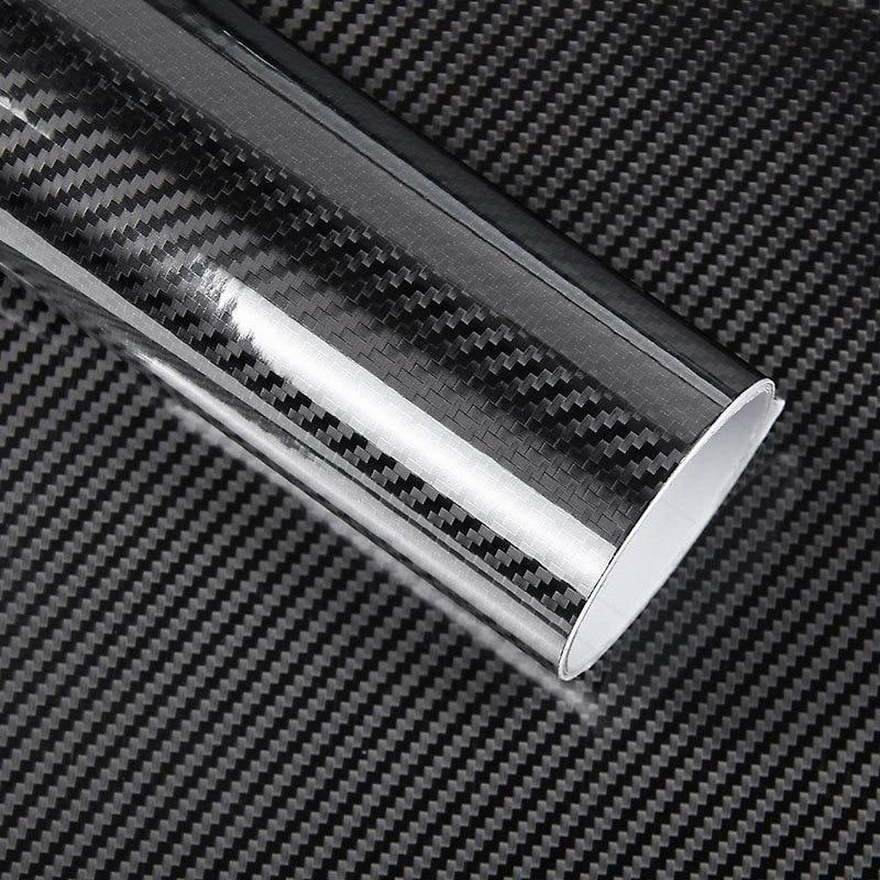 1 Pc 50*200cm Black 5D Carbon Fiber Vinyl Film Car Wrap Film 5D Roll Car Sticker Auto Sport Exterior Accessories Film