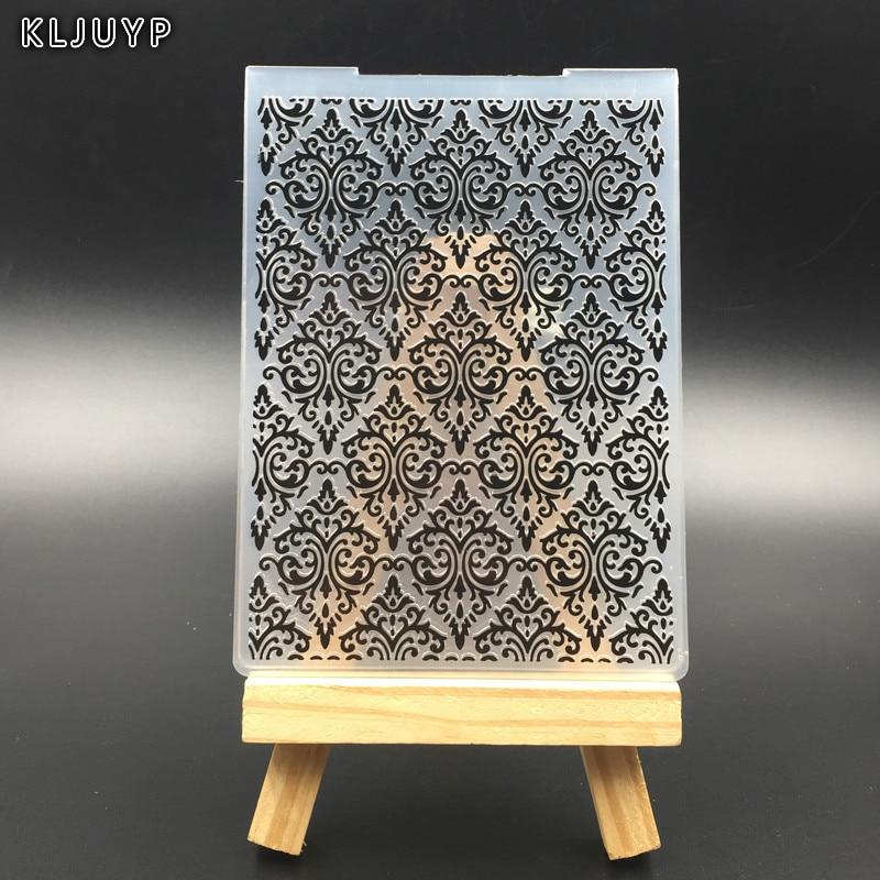 KLJUYP Flouish Plastic Embossing Folders for DIY Scrapbooking Paper Craft/Card Making Decoration Supplies