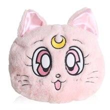 2019 New Winter Anime Sailor Moon Luna Cat Plush Should Bag Cosplay Women's Round Plush Cartoon Rabbit Bag Messenger Bag