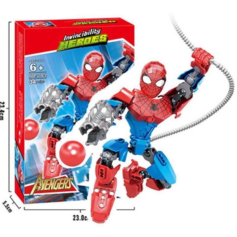 Строительные блоки супергероев, Человек-паук, Бэтмен, совместимые с Sermoido, Человек-паук, обучающая игрушка, подарок на день рождения для мальчиков