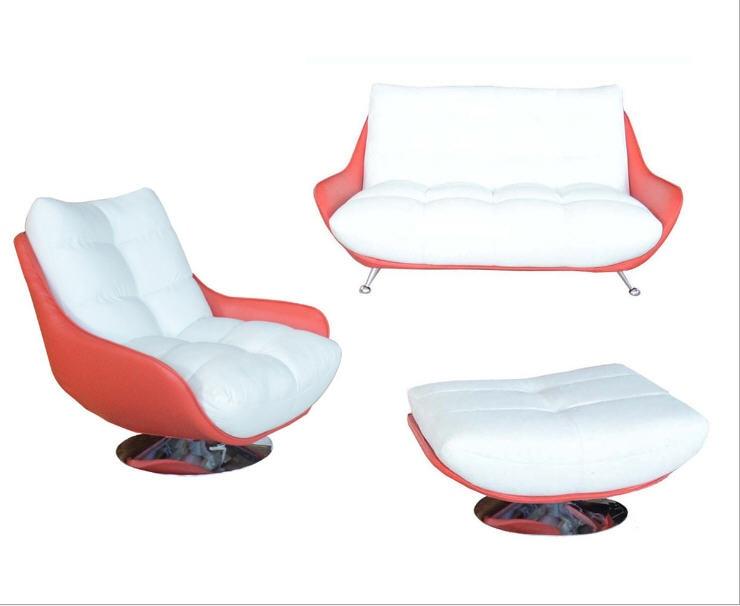 Living Room Sofa set minimalist modern sofa real genuine cow leather sectional sofa muebles de sala moveis para casa 1+2+ottoman
