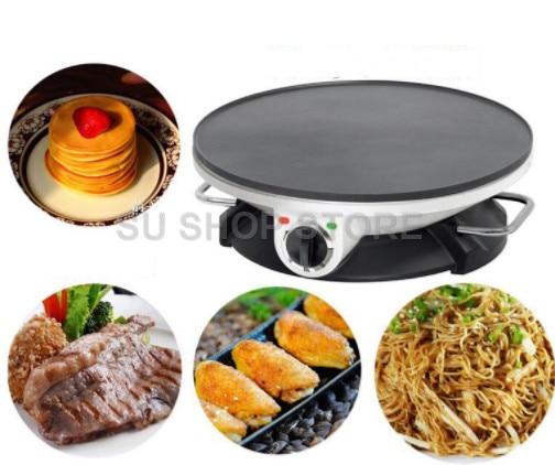 Máquina automática eléctrica de desayuno para el hogar de 220V, máquina antiadherente, multifuncional, para hornear tortitas, sartén, EU/AU/UK