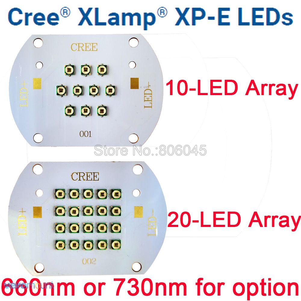 30 W 60 W Cree XP-E XPE Anlage Wachsen Multi-Chip 10LED 20LED Integrierte LED Array Foto Rot 660nm far Red 730nm Auf Kupfer PCB Board