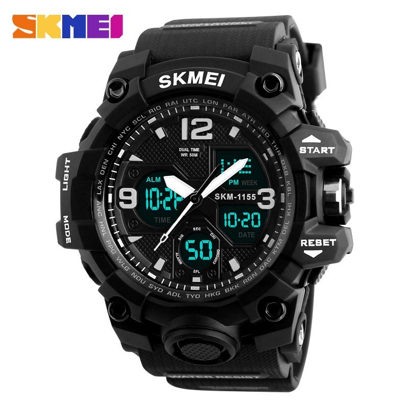 New Military Sport Watch Men SKMEI Electronic LED Digital Wrist Watch Male Clock 50M Waterproof Quartz Watch Relogio Masculino