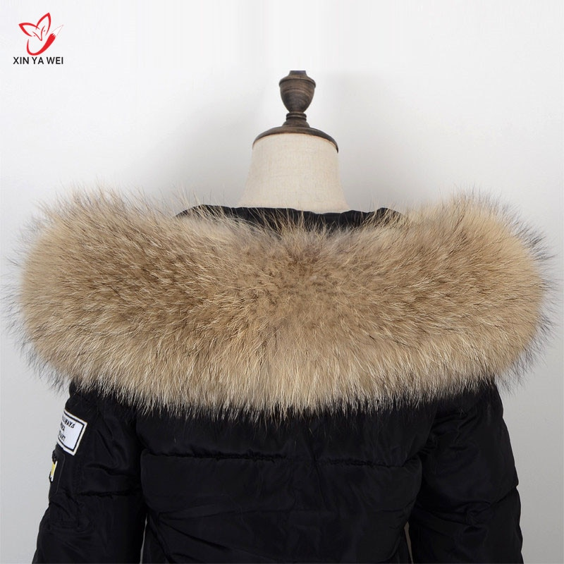 2019 nuevo invierno de piel Natural 100% Collar de piel y bufanda de mujer suéter de moda bufanda de lujo Collar de mapache Cap.