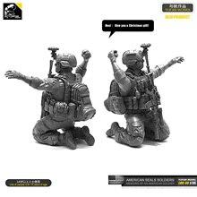 1/35 Kits de resina figura US Navy SEAL Shooter resina soldado autoensamblado LOO-30