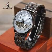 Часы мужские кварцевые с хронографом, роскошные стильные часы в стиле милитари, с деревянным корпусом, с птицей, отличный подарок