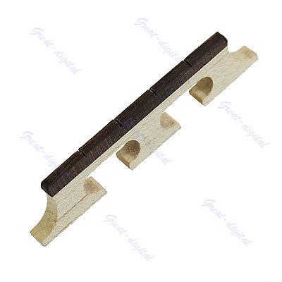 New Maple And Ebony Bridge For 4 String Banjo Ukulele