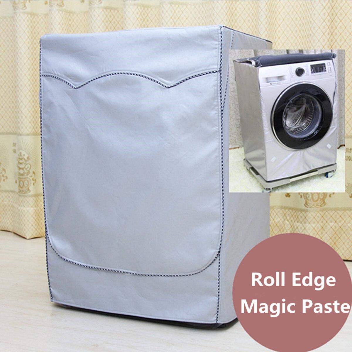 Lavadora de cubierta a prueba de agua filtro solar lavadora secadora de poliéster máquina de rodillos automática de la casa cubierta de polvo a prueba de polvo de plata