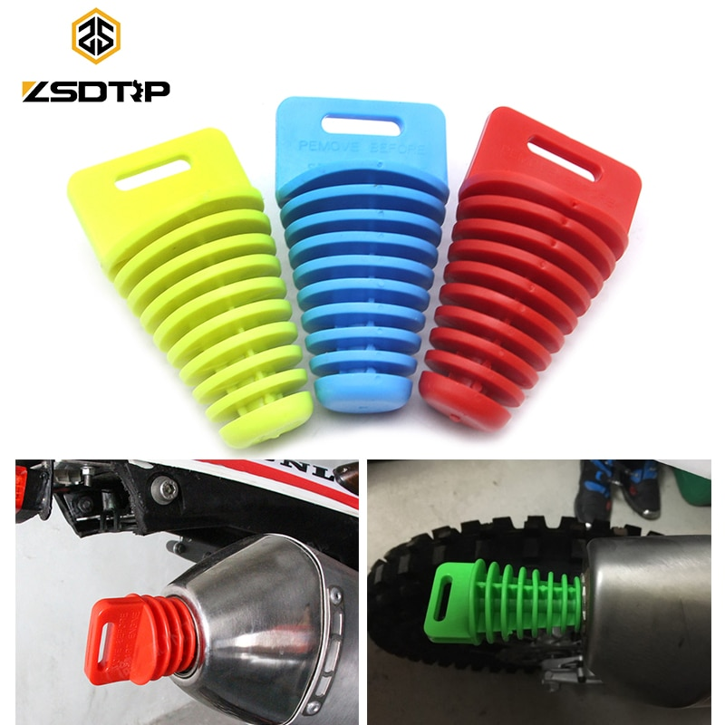 Выхлопная труба для мотоцикла ZSDTRP 33-62 мм, выхлопная труба для мотокросса, ПВХ, заглушка для воздуха, глушитель на выхлопную трубу, защита для мойки труб