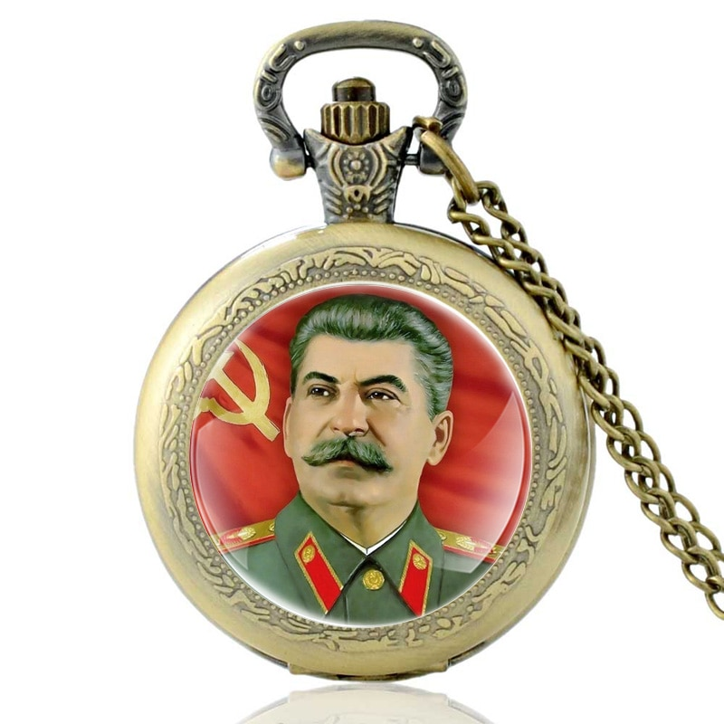 Кварцевые карманные часы в винтажном стиле для мужчин и женщин, бронзовое ожерелье с подвеской