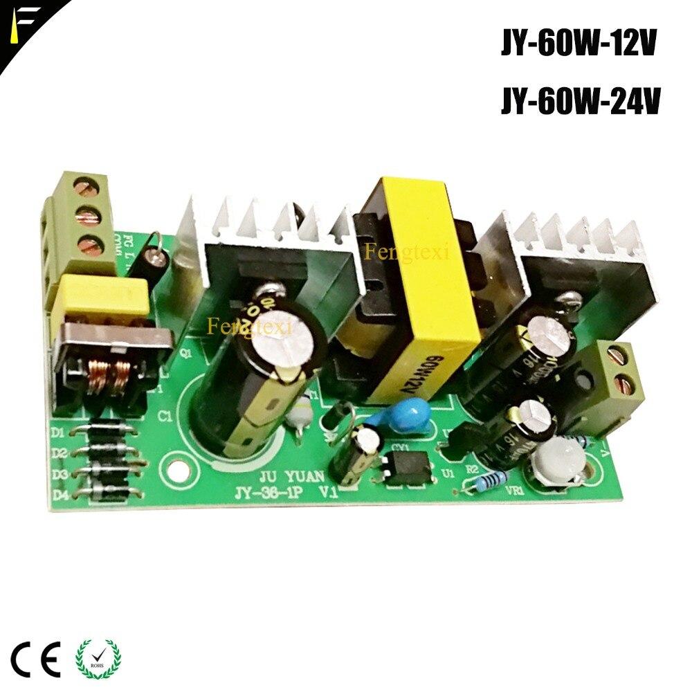 Stage Wedding Light Power Source Board 60W 12v 24v JY-60-12V JY-60-24V Bare Power Supply 36*1W LED Flat Par Can Light Spare Part